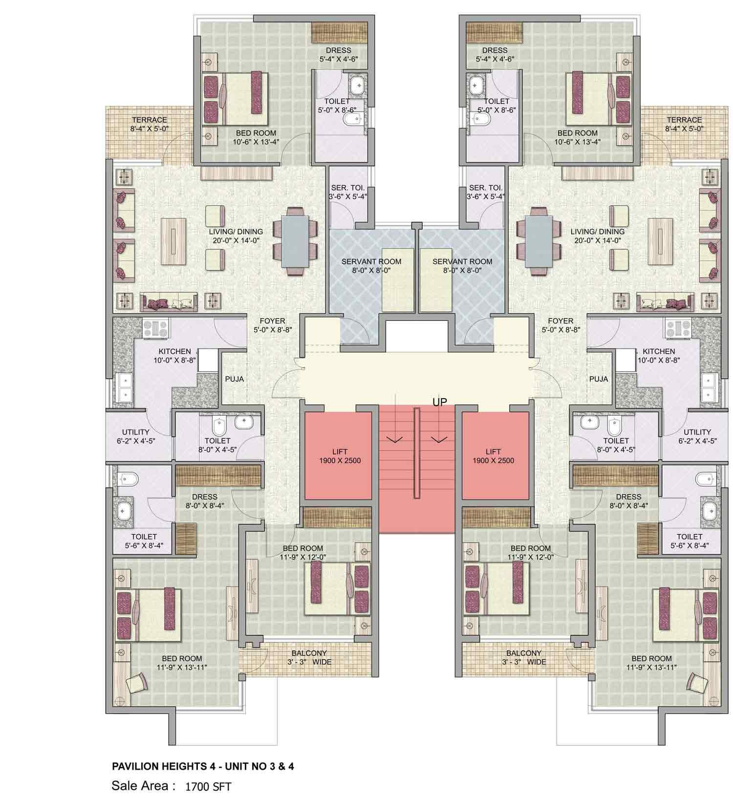 Unit House Plans walkout floor plans